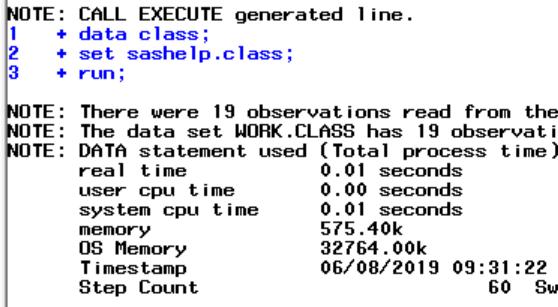 SAS Call Execute Routine Example